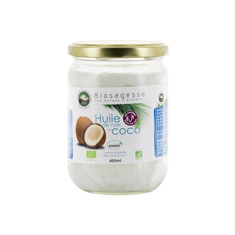 ÉCOIDÉES Huile de Noix de coco BIO - pot de 450 ml - Ecoidées