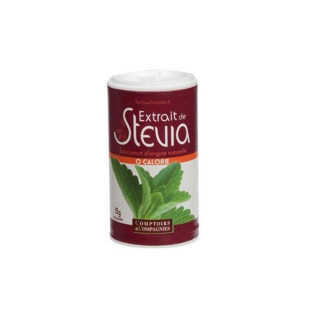 COMPTOIRS ET COMPAGNIES - Stévia en poudre - Boîte de 15g