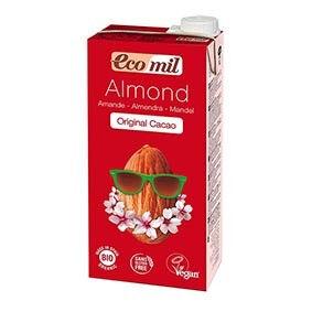 ECOMIL Lait d'Amande Original Cacao Bio - 1L - Ecomil