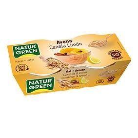 NATURGREEN Dessert Avoine Cannelle-Citron 2x125g Bio - NaturGreen