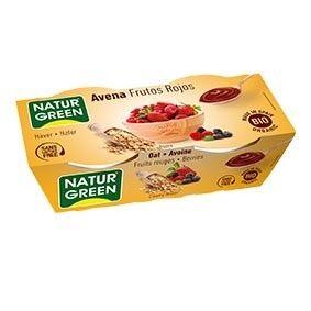 NATURGREEN Dessert Avoine Fruits Rouges 2x125g Bio - NaturGreen