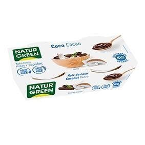 NATURGREEN Dessert Noix de Coco - Cacao 2x125g Bio - NaturGreen