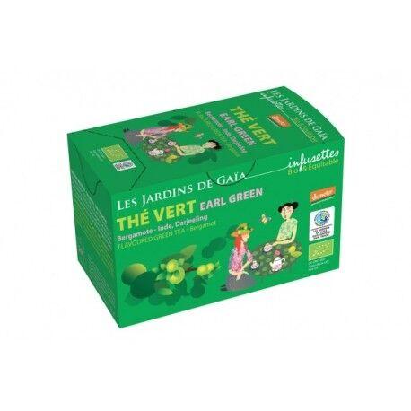 LES JARDINS DE GAIA Thé Vert Earl Green 20 Infusettes-Les Jardins de Gaia