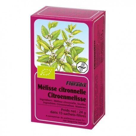 FLORADIX Tisane de Mélisse Citronnelle - Floradix - 15 Sachets