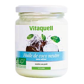 VITAQUELL Huile de Coco Neutre 200g Bio - Vitaquell