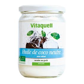 VITAQUELL Huile de Coco Neutre 400g Bio - Vitaquell