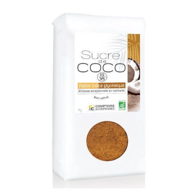 COMPTOIRS ET COMPAGNIES - Sucre de coco bio non raffiné - Format...