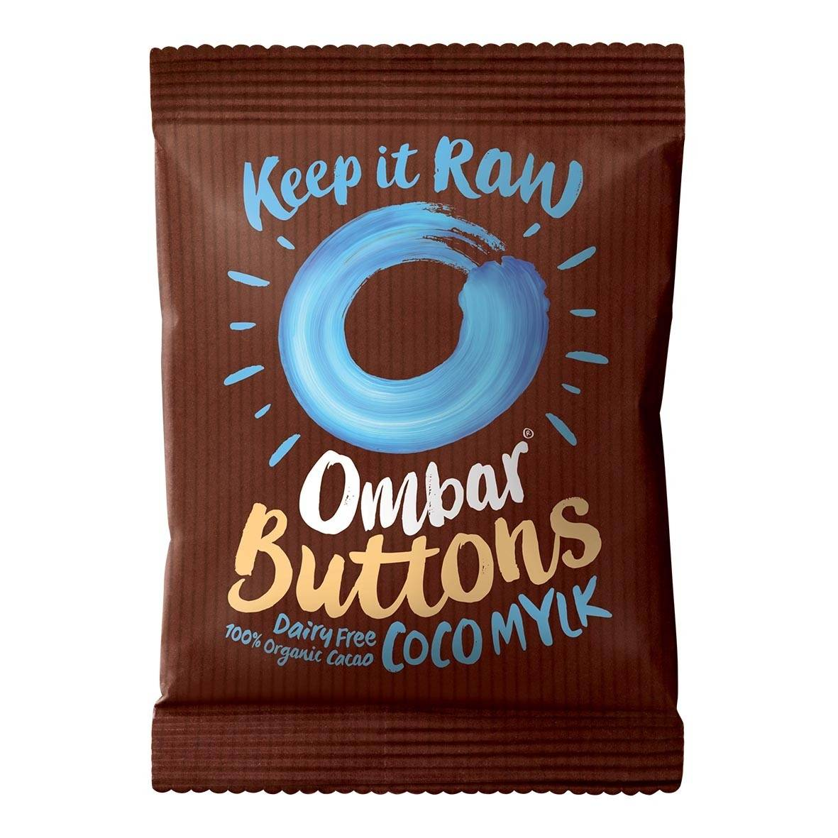 Lechoppebio Buttons - Chocolat Cru Crème de Coco 25g Bio - Ombar