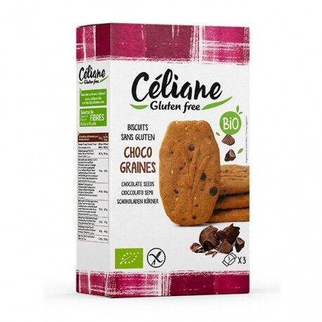 Relais Bio Biscuits Chocolat & Graines Sans Gluten - 150gr - Céliane Gluten Free
