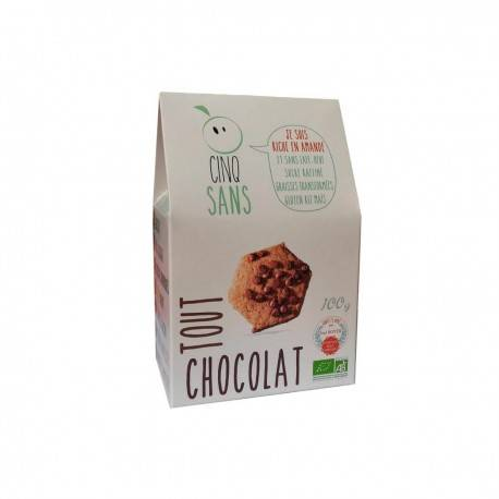 5 Sans Biscuit tout chocolat 100% bio