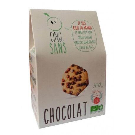 5 Sans Biscuits pépites de chocolat 100% bio