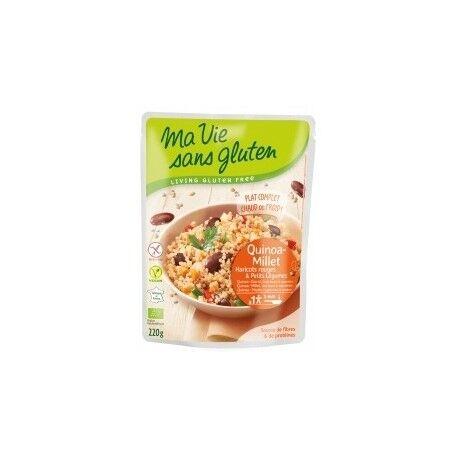 MA VIE SANS GLUTEN Quinoa-Millet Haricots Rouges & Petits Légumes  - 220gr - Ma Vie...