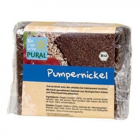 Relais Bio Pumpernickel Pain Complet au Seigle - 375g - Pural