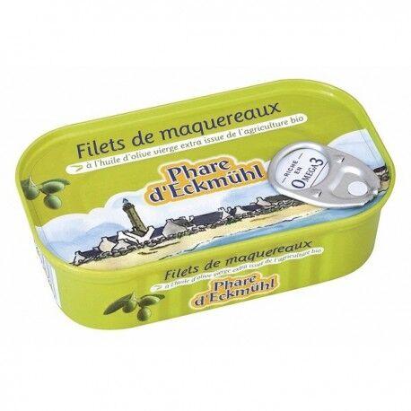 PHARE D'ECKMÜHL Filet de Maquereaux à l'Huile d'OIive Vierge Extra Bio - 118g -...