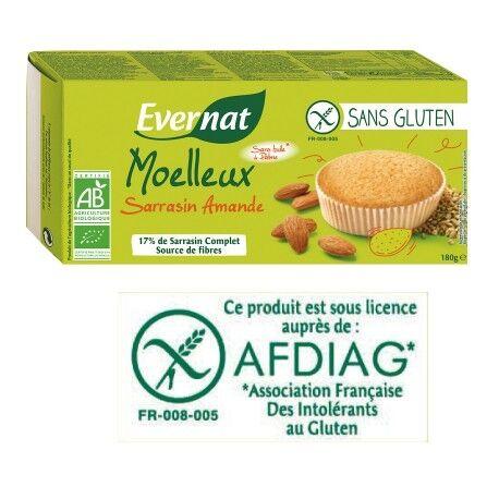 EVERNAT Moelleux Sarrasin Amandes Sans Gluten 180g-Evernat
