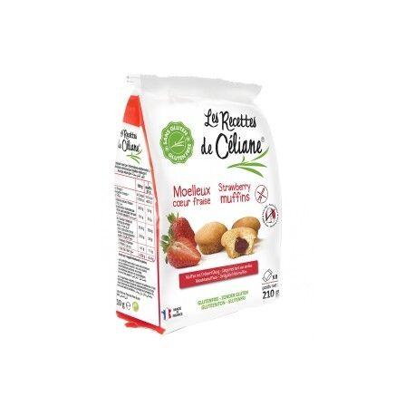 LES RECETTES DE CÉLIANE Muffins Coeur Fraise Sans Gluten 210g-Les Recettes de Céliane
