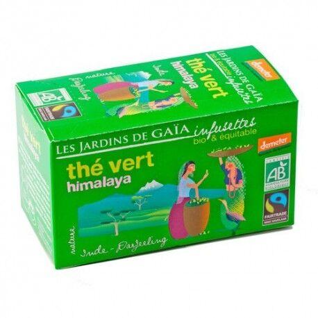 LES JARDINS DE GAIA Thé Vert Himalaya, Infusettes Bio 32g-Les Jardins de Gaia