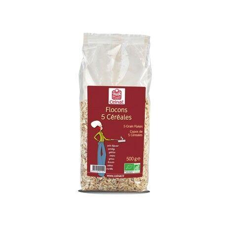 CELNAT Flocons 5 Céréales, Celnat, 500g