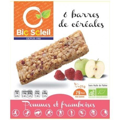 ECOCERT Barres de Céréales Pommes et Framboise x6 - 125g - Biosoleil