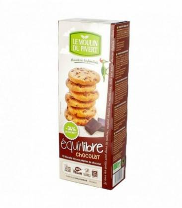 LE MOULIN DU PIVERT Biscuits bio Equi'libre Chocolat Bio & Vegan