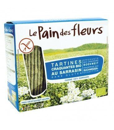 LE PAIN DES FLEURS Tartines Craquantes Bio Sarrasin Sans Sel Ni Sucres 150g-Le Pain...