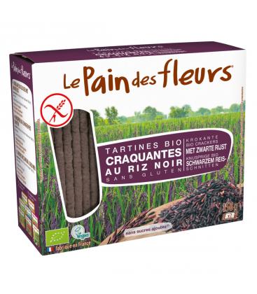 LE PAIN DES FLEURS Tartines craquantes au riz noir sans gluten bio
