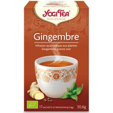 YOGI TEA Infusion gingembre 17 infusettes 30,6g - YOGI TEA