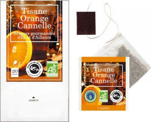 Vitaforce Tisane orange cannelle bio 20 sachets