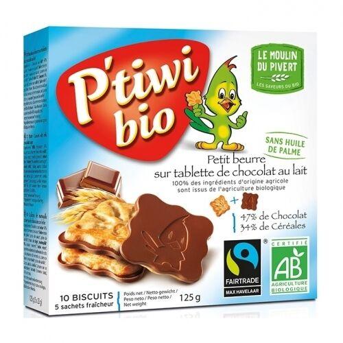 LE MOULIN DU PIVERT Biscuits P'tiwi au chocolat au lait bio &...