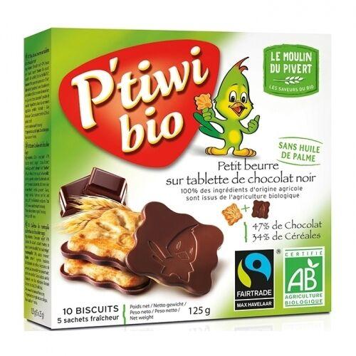LE MOULIN DU PIVERT Biscuits P'tiwi au chocolat noir bio & équitable