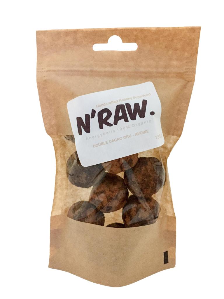 N'raw Energyballs Double Cacao Cru - Avoine 140g