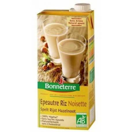 BONNETERRE Boisson végétale au Riz Epeautre Noisette 1L-Bonneterre