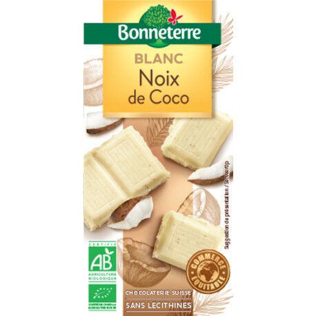 BONNETERRE Chocolat Blanc Noix de Coco 100g -Bonneterre