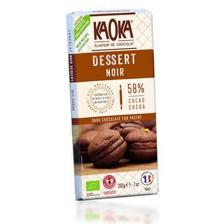 Relais Bio Chocolat Dessert Noir Bio 58% Cacao - 200g - KAOKA