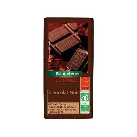 BONNETERRE Chocolat Noir 60% Cacao 100g -Bonneterre