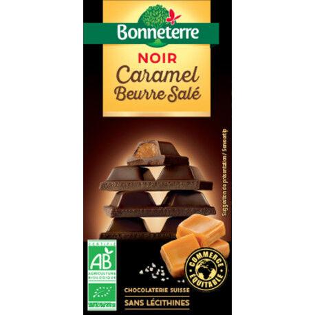 BONNETERRE Chocolat Noir Caramel Beurre Salé 100g -Bonneterre