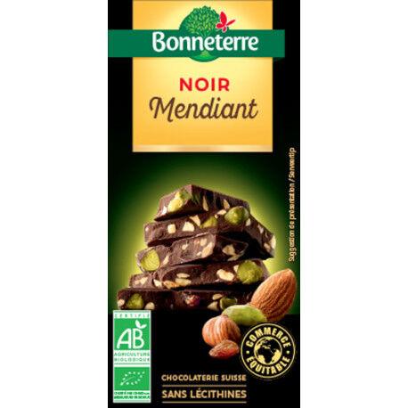 BONNETERRE Chocolat Noir Mendiant 100g -Bonneterre