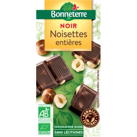 BONNETERRE Chocolat Noir Noisettes Entières 100g -Bonneterre