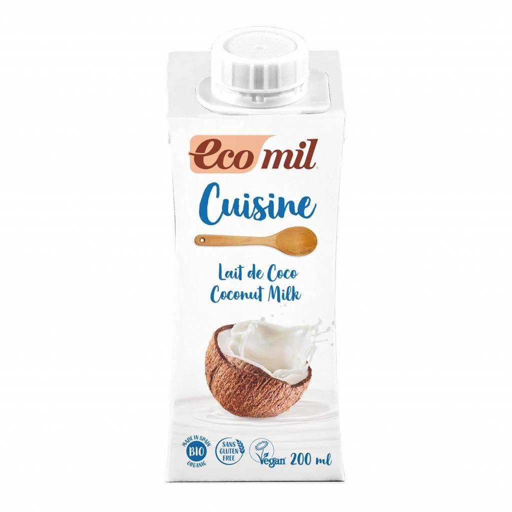 ECOMIL Crème Cuisine Lait de Coco 200ml Bio - Ecomil