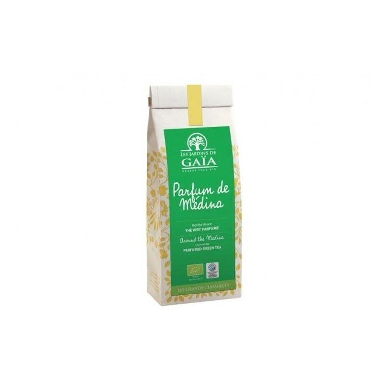 LES JARDINS DE GAIA Parfum de Médina, Thé Vert 100g-Les Jardins de Gaia
