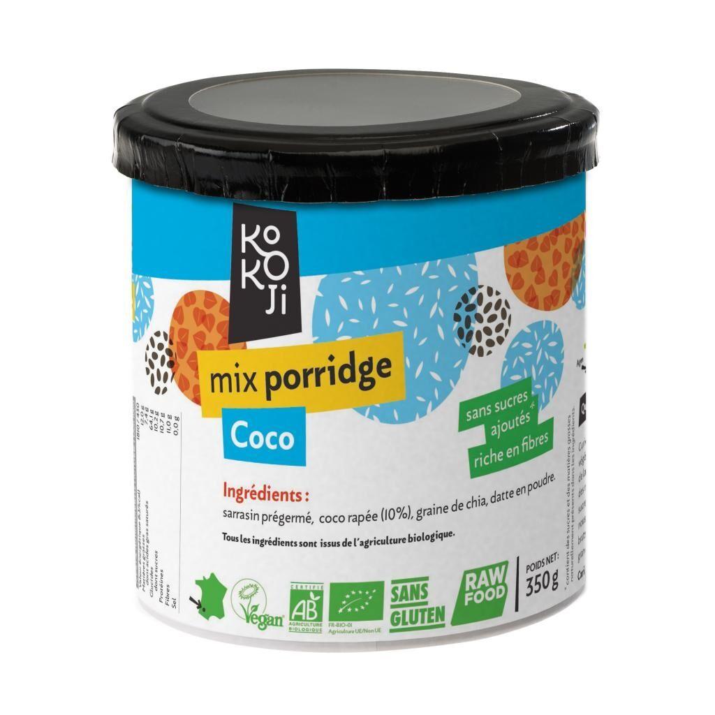 Kokoji Mix Porridge Coco Bio KoKoji - 350g - Sans gluten - Sans sucre ni...
