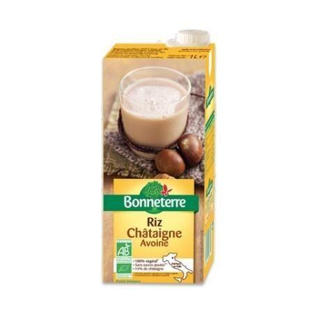 BONNETERRE Boisson végétale au Riz Châtaigne Avoine 1L-Bonneterre