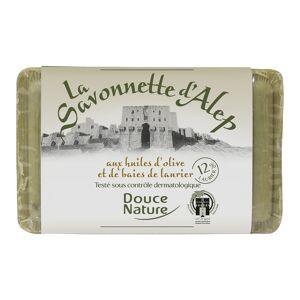 DOUCE NATURE Savonnette d'Alep et aux huiles d'olive et de baies de laurier 12% - Publicité