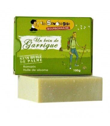 """LA SAVONNERIE BOURBONNAISE Savon """"Un Brin de Garrigue"""" au romarin & huile de sésame 100% bio"""