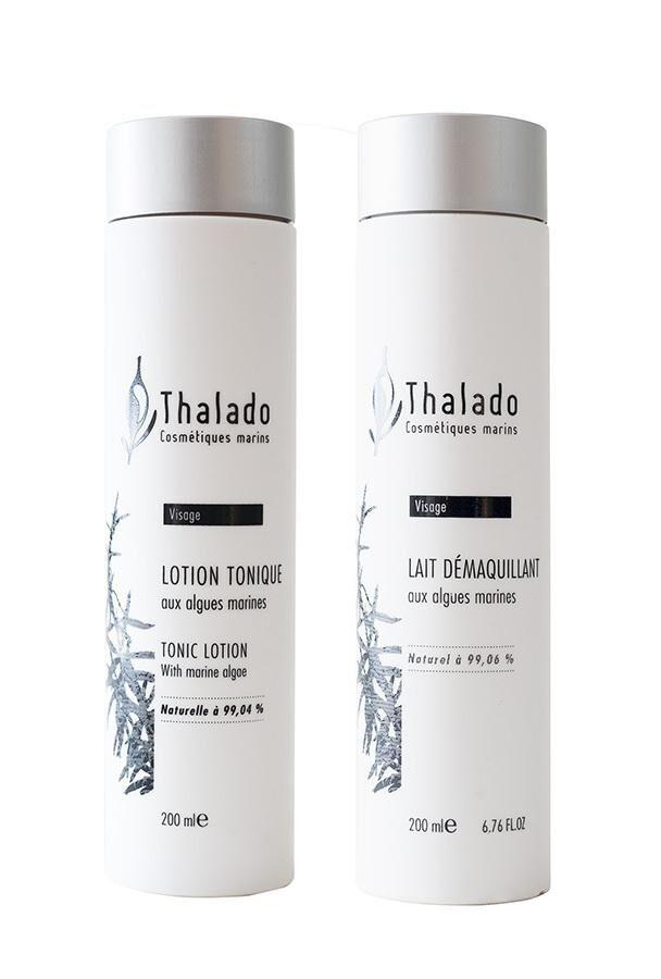 Le Comptoir Des Algues DUO Lait Démaquillant Bio + Lotion Tonique Bio aux algues THALADO...