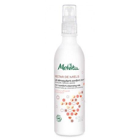 Vitaforce Lait Démaquillant 3en1 Bio - Nectar de miels nettoyante et...