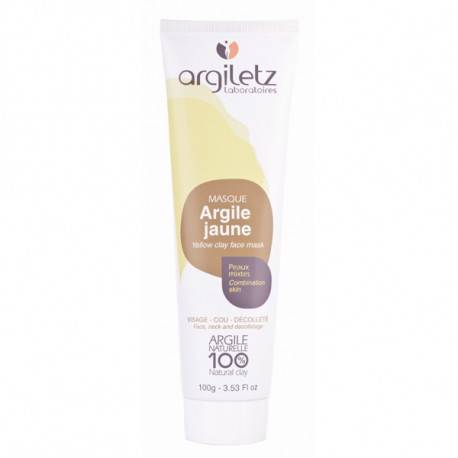 ARGILETZ Masque Argile Jaune 100 % naturelle - 100 g