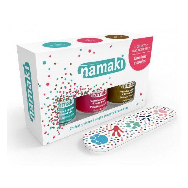 NAMAKI - Coffret 3 Vernis à ongles pour enfant - Corail,...