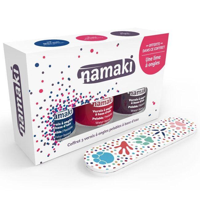 NAMAKI - Coffret 3 Vernis à ongles pour enfant - Griotte, Bleu...