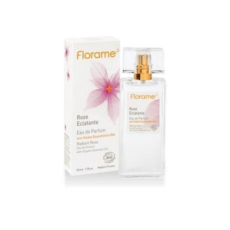 FLORAME Rose Eclatante Eau de Parfum aux HE Bio - 50ml - Florame